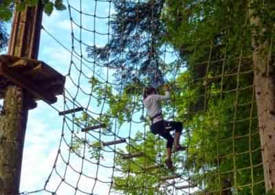 Jeu dans les arbres activité sportive Grand Bornand