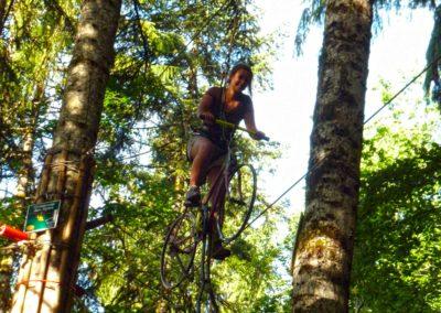 Vélo dans les arbres la forêt des dodes Grand Bornand