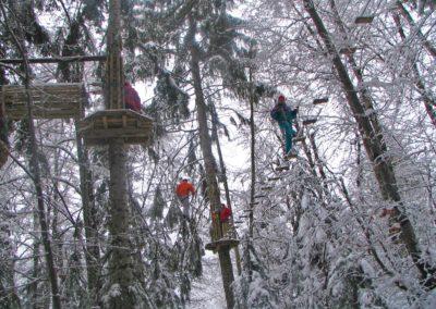 Accrobranche la Forêt des Dodes ouvert même l'hiver période vacances