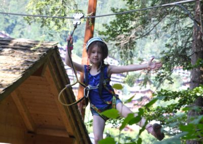 Activités enfants parcours aventure Grand Bornand