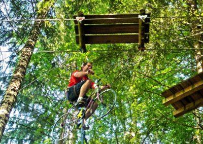 Vélo dans les arbres accrobranche Haute Savoie